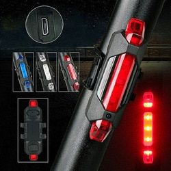 Portable USB Rechargeable Bike Bicycle Tail Rear Safety Warning Light Taillight Lamp Bicycle Headlight Flash Light Super Bright