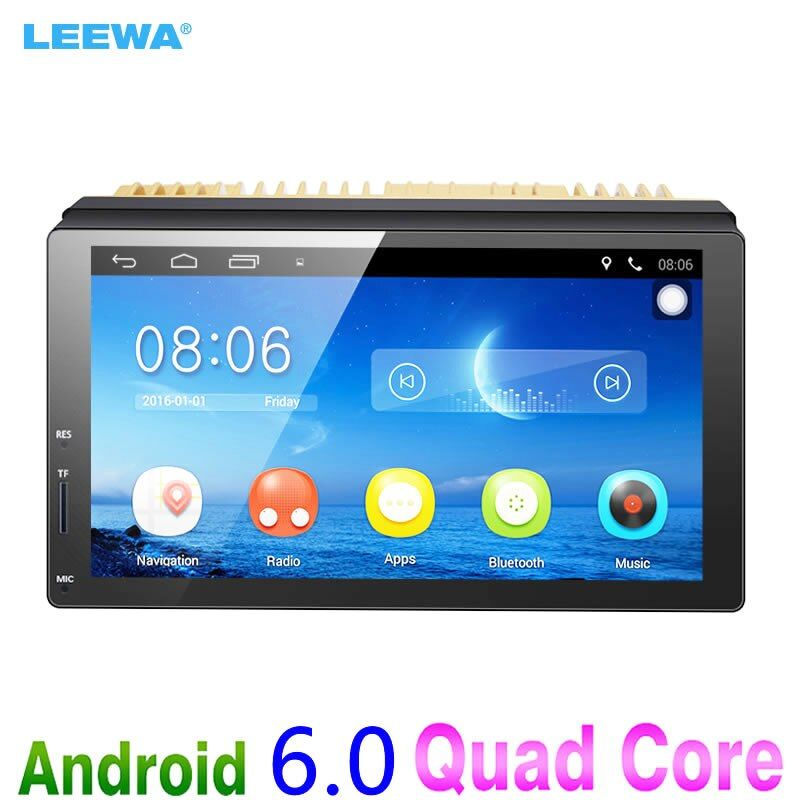 LEEWA New 7inch Ultra Slim Android 6.0 Car Media Player With GPS Navi Radio For Nissan/Hyundai All 2DIN ISO Size Car Head Unit