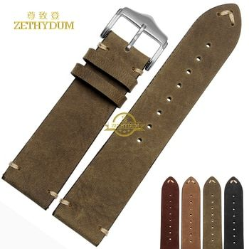 Retro Frosted Genuine leather bracelet handmade watchband 18 20mm 22mm watch band Wrist watch strap wristwatches wholesale