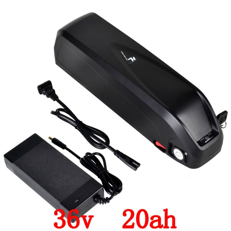 EU No Tax Hailong down tube Ebike Battery 36V 20Ah use for LG 3400mah cell Lithiumion Electric Bicycle Battery Pack with charger