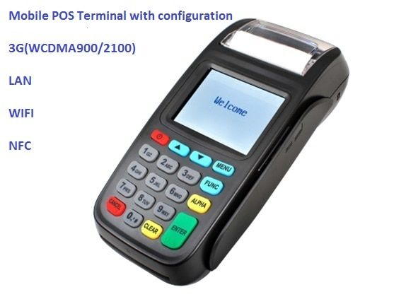 2.8 Inch Touch Screen POS Terminal,Wireless Payment Terminal with NFC Reader and LAN and WIFI and 3G WCDMA900/2100 NEW8210