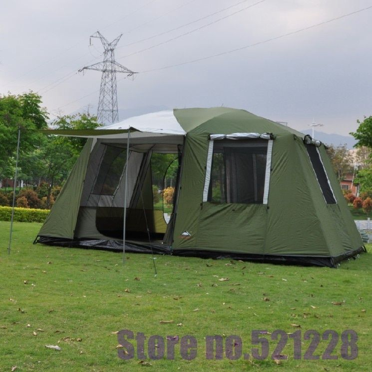 5 6 8 10 12 person 2 bedroom 1 living huge room hiking beach travel family shelter awning fishing beach outdoor camping tent