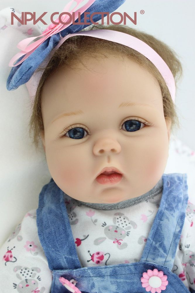 NPKCOLLECTION Free shipping 55CM reborn baby doll lifelike soft silicone vinyl real gentle touch baby reborn hot toys for kids