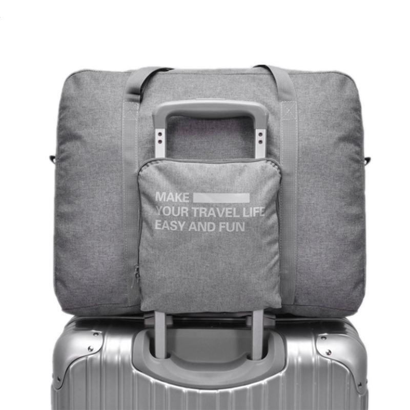 ALYMLH Marca de Alta Calidad Bolsa de Viaje Plegable Grande Puede Ser Puesto En la Bolsa Maleta Trolley Equipaje Impermeable Sportsing Duffle Bag
