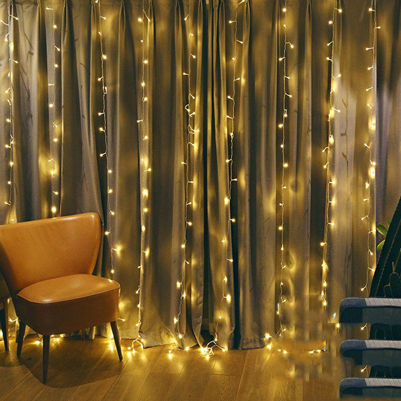 Guirlande LED chaîne lumières noël fée rideau guirlande lumineuse Festival fête de mariage nouvel an maison intérieur décoratif lumières
