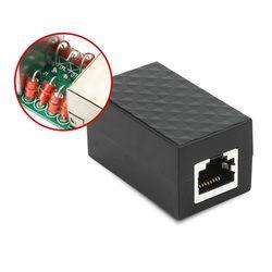 Network RJ45 SPD Surge Protector Thunder Lightning Arrester Protection Device for Ethernet Switch Router Device w/ 8 Detonator