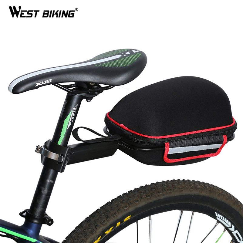 WEST BIKING Cycling Bag Bike Rear Bag Reflective Waterproof Rain Cover Mountain Bike Cycling Tail Extending Saddle Bicycle Bag
