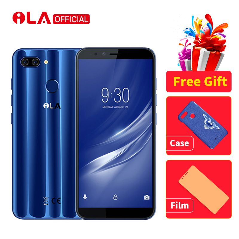 iLA Silk 4GB 64GB Mobile Phone Snapdragon 430 Octa Core Android 8.1 Phones 16MP Front and 13MP+ 2MP Rear Camera 5.7'' Smartphone