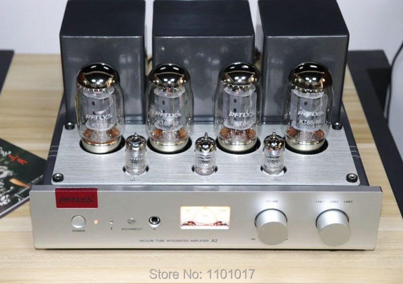 RFTLYS A2 KT88 Push Pull Tube Amplifier HIFI EXQUIS Integrated 12AU7 Lamp AMP With Bluetooth