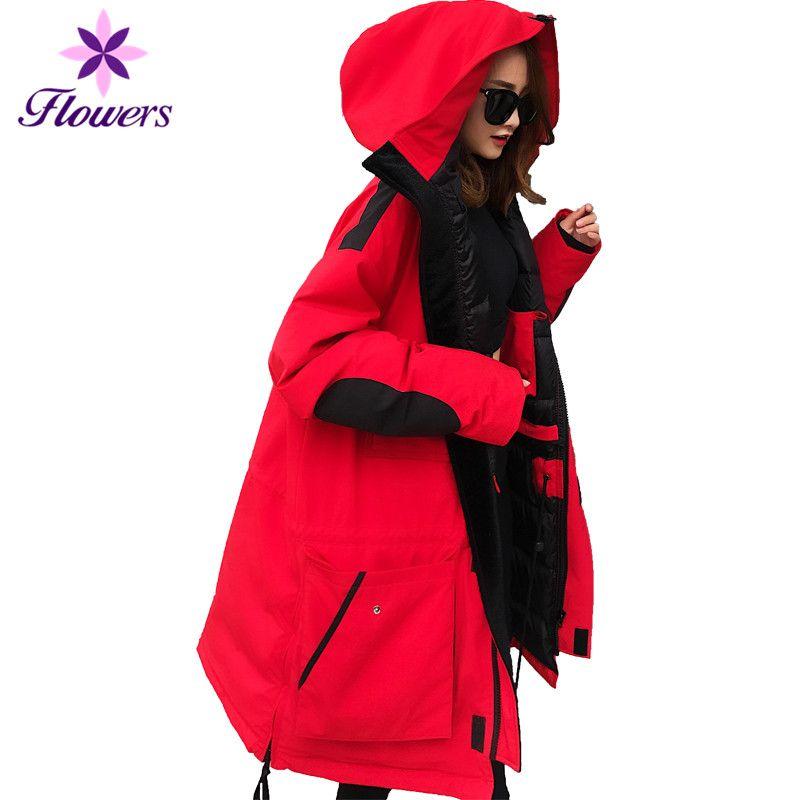 Winter Warme Daunen Jacke Plus Größe Frauen Kleidung Koreanische 90% Weiße Ente Unten Oberbekleidung Thicking Werkzeug Lange Mantel Weibliche LQ362