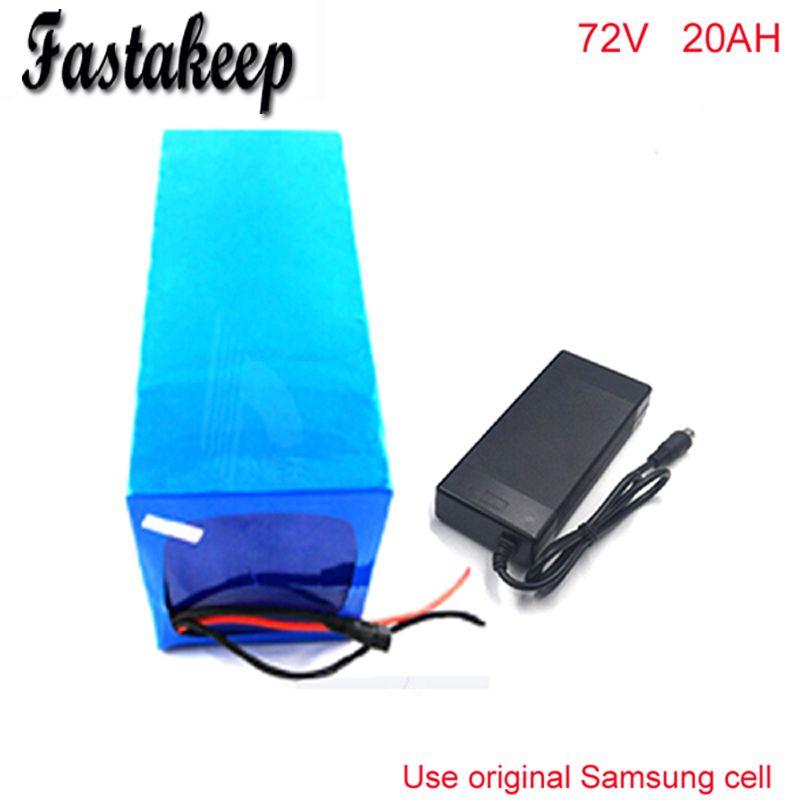 Heiße verkäufe 72 v 20AH Lithium-Batterie, mit 2500 watt BMS Chargrer, RC E-bike Elektro Fahrrad Roller 72 v batterie Für Samsung zelle