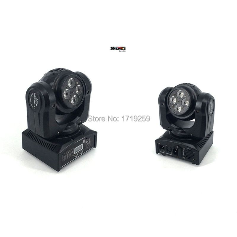 LED Wash Double Sides 4x10W+4x10 RGBW LED Stage Pattern Lamp ,15/21 Channel DMX 512 Rotating Moving Head for Indoor Disco Party