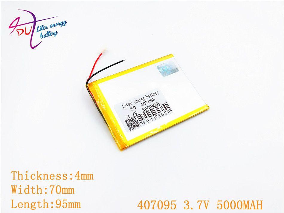3.7 v 5000 mah (batterie au lithium-ion polymère) li-ion batterie pour tablet pc 7 pouce 407095 remplacer Haute capacité