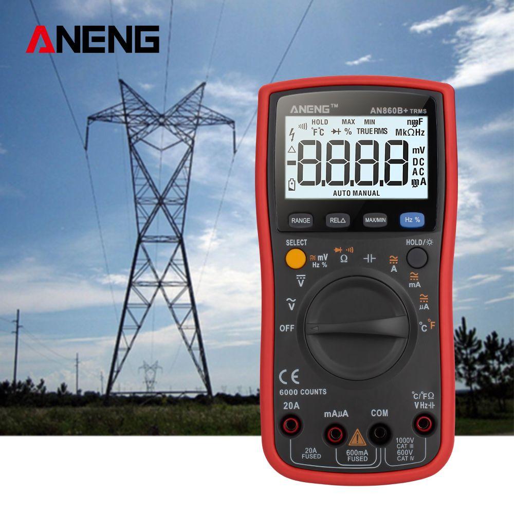ANENG AN860B+ Tester Digital Multimeter Profesional 6000 Counts Detector Tester Peak Multimetro Meter analogico esr Lcr meter
