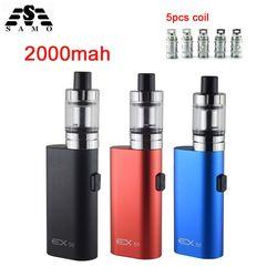 New EX50 Electronic Cigarettes Box Mod kit 2ml Atomizer vapor vaporizer 50w Vape pen 2000mah battery e-cigarette kit