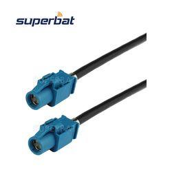 Superbat FAKRA Kendaraan HSD LVDS Cable Dacar 535 Perakitan Z Kode LURUS JACK Perempuan untuk Z Kode LURUS JACK 120 CM
