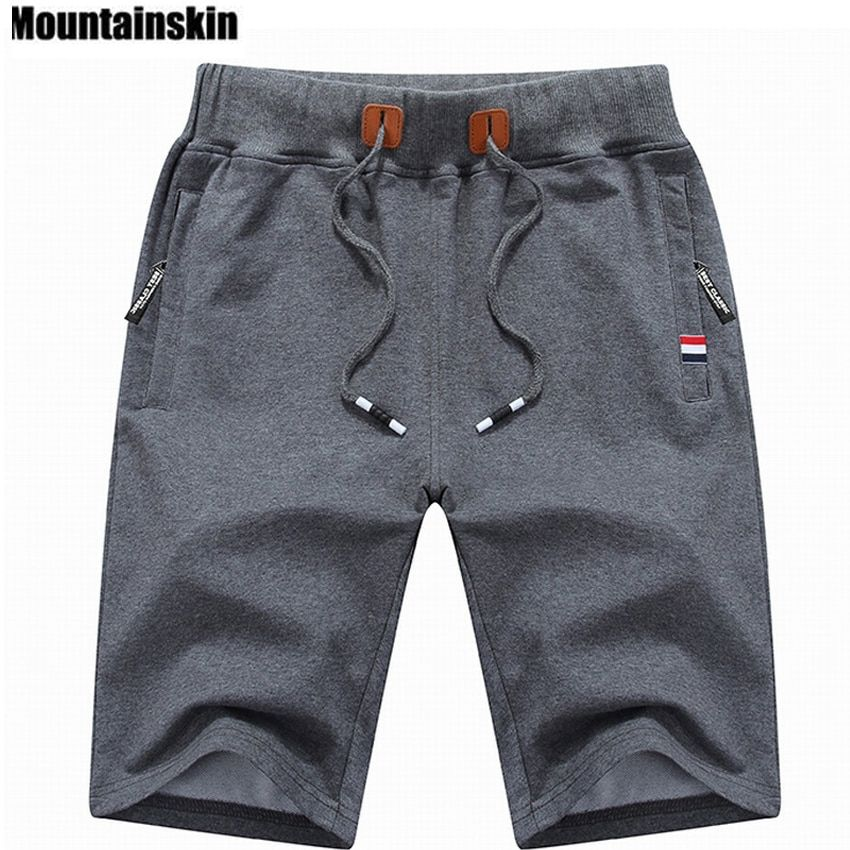 Mountainskin 2017 Solid Men's Shorts 4XL Summer Mens Beach Shorts Cotton Casual Male Shorts homme Brand Clothing SA210