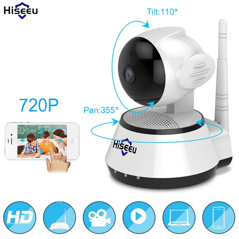 Home Security IP Camera Wireless Smart WiFi Camera WI-FI Audio Record Surveillance Baby <font><b>Monitor</b></font> HD Mini CCTV Camera Hiseeu FH2A