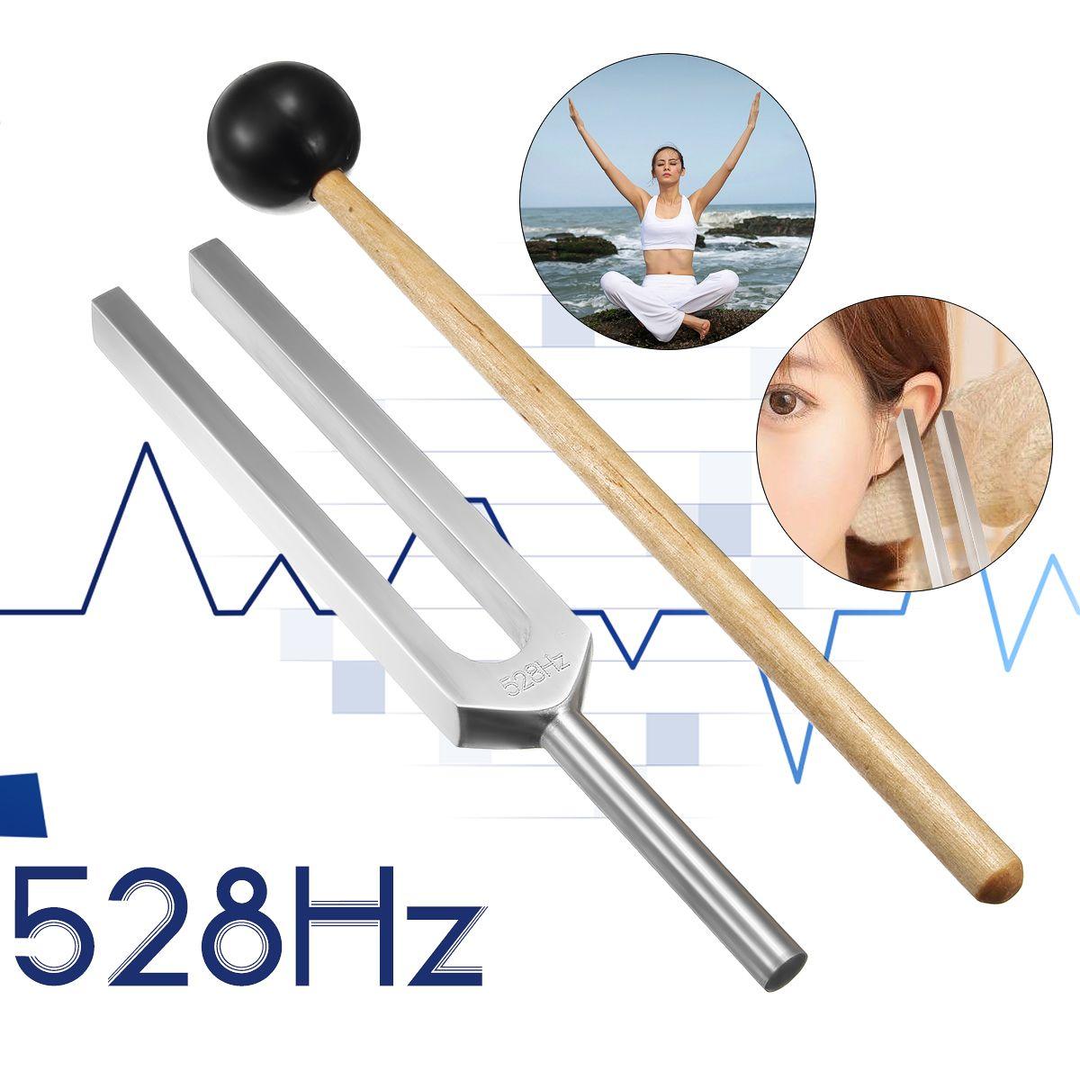 Diagnostic médical en aluminium 528 HZ de boule de marteau de Chakra de diapason avec le système nerveux réglé de maillet