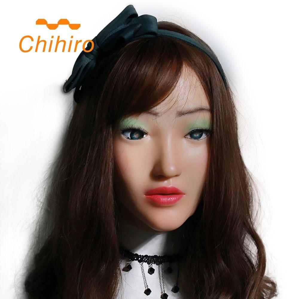 Cosplay Silikon Maske Realistische Weibliche Haut Gesicht Halloween Dance Maskerade Göttin Sophia Headwear für Crossdresser Drag Queen