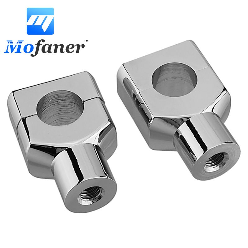 25mm 1 inch Motorcycle Handlebar Bar Riser Mount Bracket Clamp Bolt Billet Chrome For Harley /Honda /Yamaha /Kawasaki /Suzuki