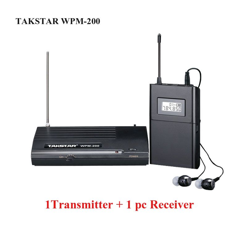 wpm-200/wpm 200 Wireless Recording studio Monitor System In-Ear UHF Wireless Headset Transmitter&Receiver,stage Monitor