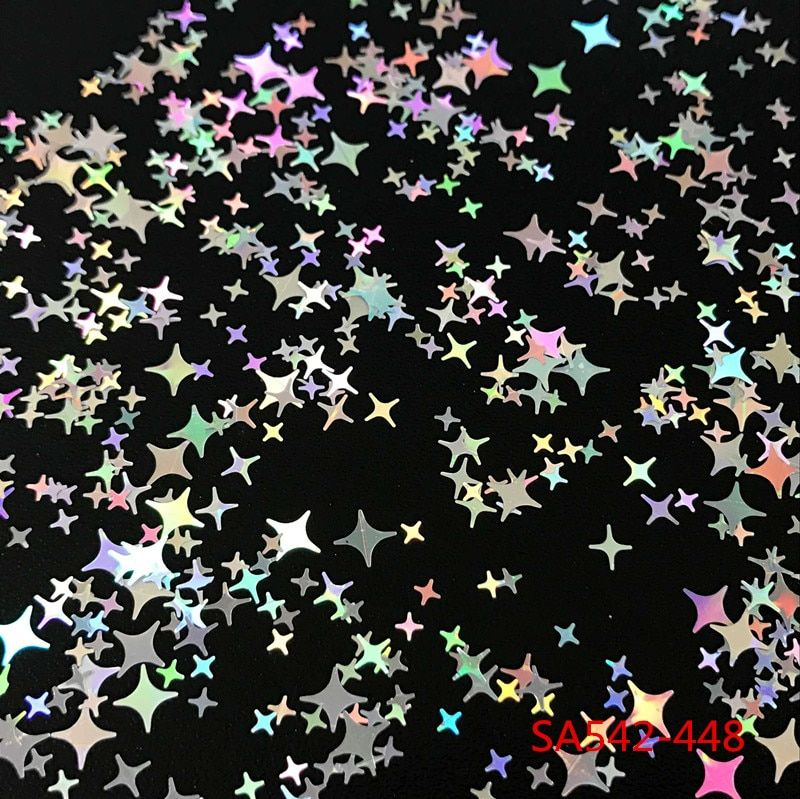 Four Angle Stars Shape 448-450 Nail Glitter Sequins for nail art decoration makeup facepainting nail gel DIY decoration
