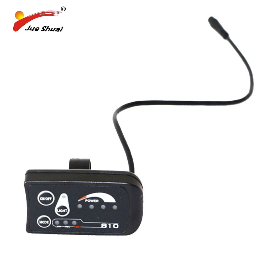 Electric Bicycle LED Display 810 Control Panel 3 assist Light Indicate Power Switch Model Control Headlight Waterproof Connector