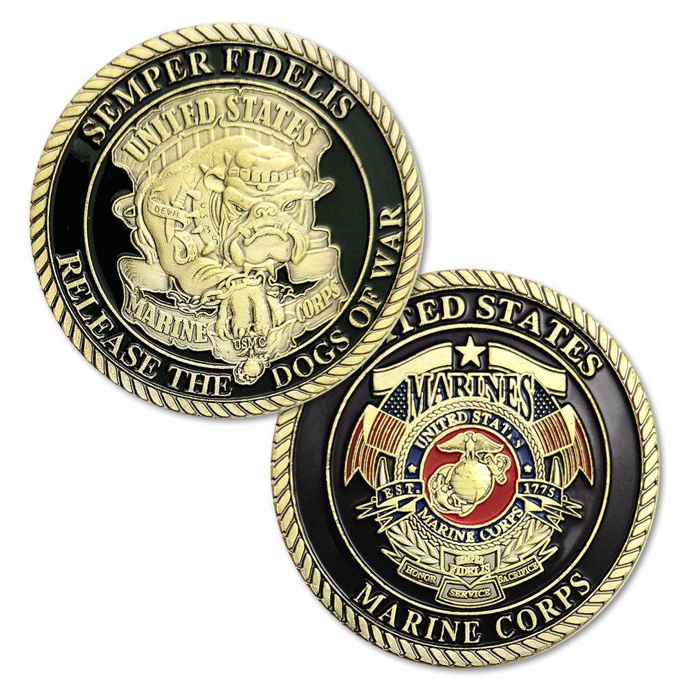 1/3/5/10 pcs/lot Nouveau Semper Fidelis Libérer les Chiens de Guerre US Marine Corps USMC diable Chiens Challenge Coin