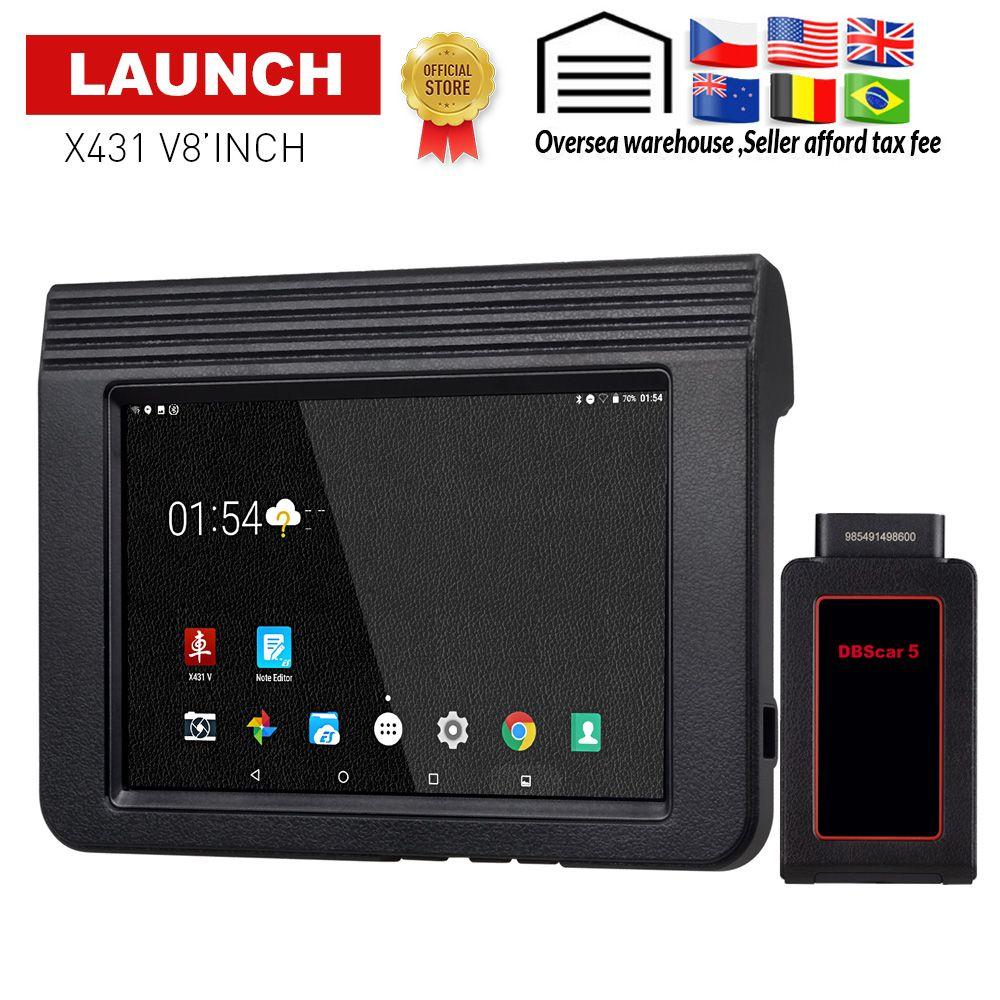 STARTEN X431 V Auto/Auto diagnose werkzeug Unterstützung Bluetooth Wifi X-431 V 8 zoll Full System OBD2 Scanner mit 2 jahr freies update