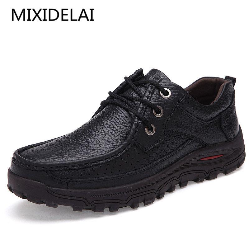 Мужская обувь ручной работы высокое качество Пояса из натуральной кожи Обувь слипоны комфорт Бизнес человек повседневная обувь Большие ра...