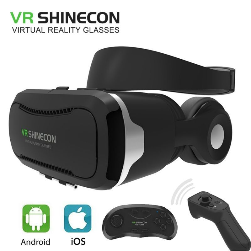VR SHINECON 4.0 lunettes de réalité virtuelle lunettes 3D VR BOX 2.0 google carton avec casque pour smartphone 4.5-6.0 pouces