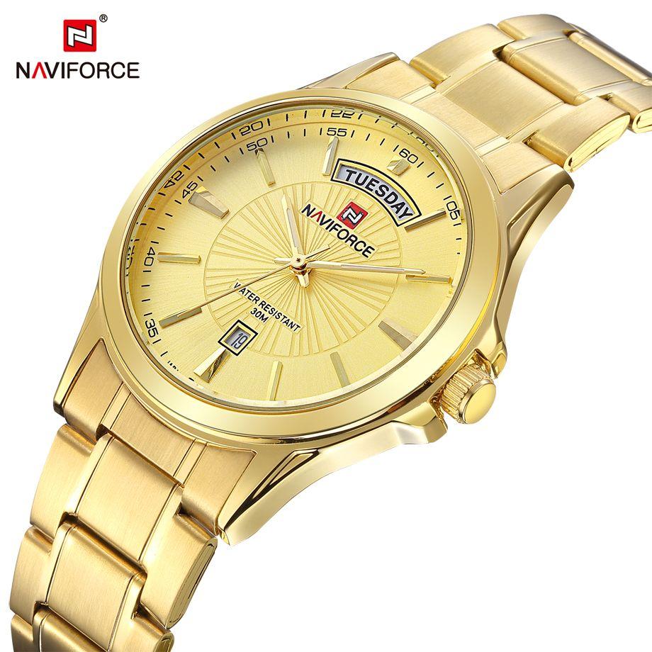 Luxury Top Brand NAVIFORCE Men's Wristwatch Quartz Analog Watch Steel Waterproof Fashion Casual Clock Dress Relogio Masculino