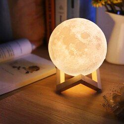 Usb Light Touch 3d Impresión Luna Lámpara de Luminaria de Iluminación Dormitorios Lámpara Con Pilas Luz de Noche Lámpara de Noche Led Cambian de Color