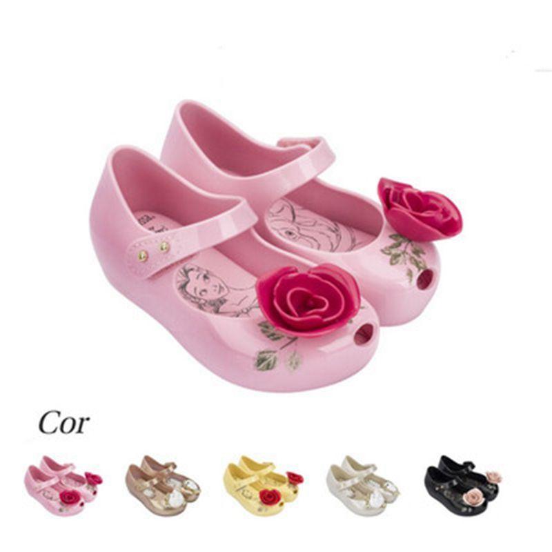 2017 sandalen sommer Schönheit Tier mini kinder Schuhe jungen mädchen Gelee Sandalen hohe qualität Prinzessin 1-6Y rutschfeste Teetasse sandalen