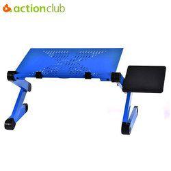 Actionclub portátil plegable 360 grados portátil ajustable mesa de ordenador soporte bandeja para sofá cama escritorio del ordenador portátil con el cojín de ratón