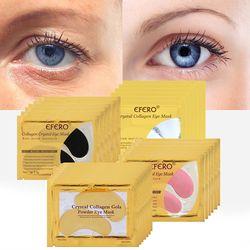 20pcs=10packs Gold Eye Masks Crystal Collagen Eye Mask Eye Patches for Eye Ageless Anti-Wrinkle Remove Black EyeCare Face Masks