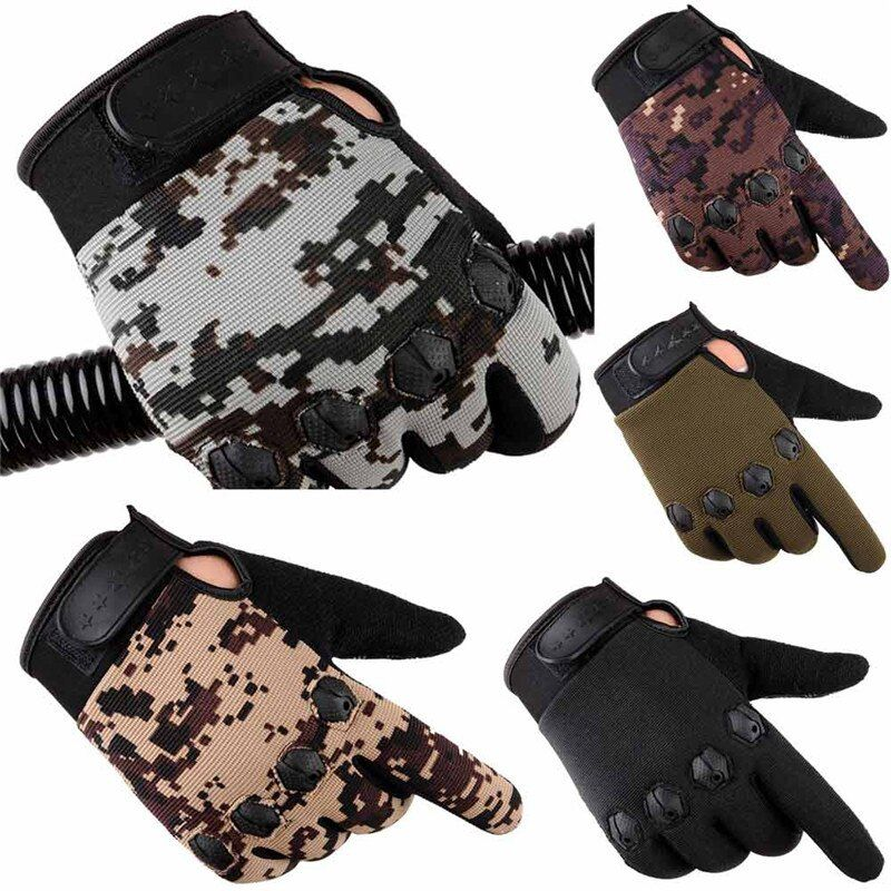2017 new Men Fashion Winter Warm Cashmere Male Winter Camouflage Gloves Driving Comfortable Effectively Antiskid