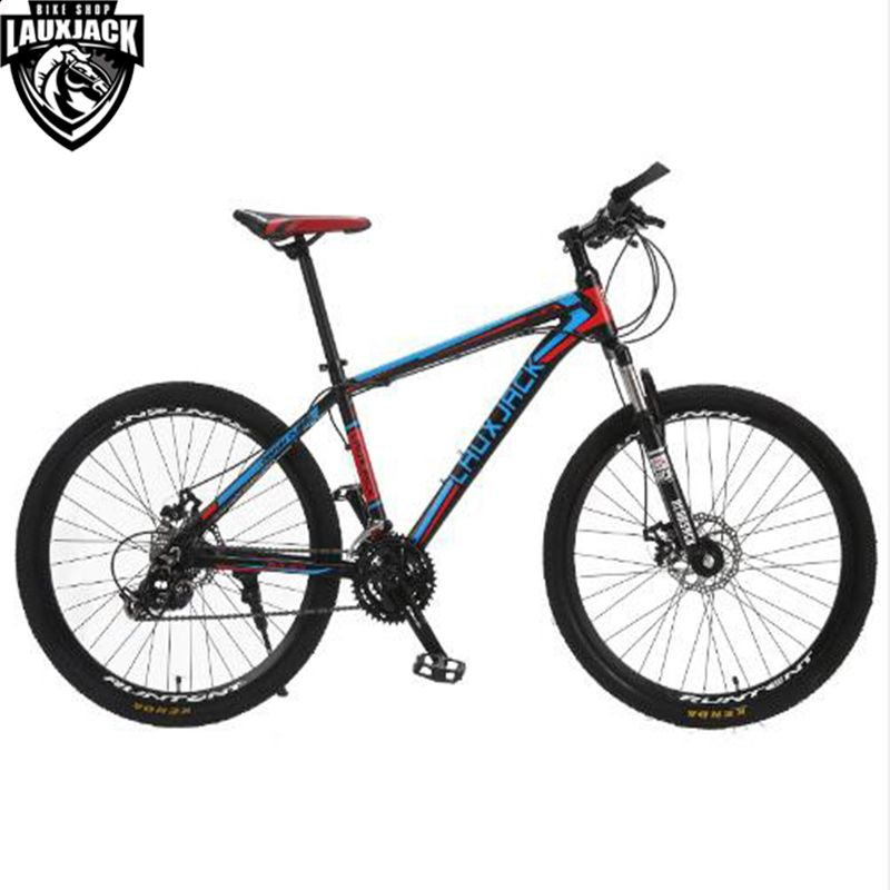 LAUXJACK Mountain Bike Aluminium Frame 24/27 Speed Shimano Mechanic Brake 26
