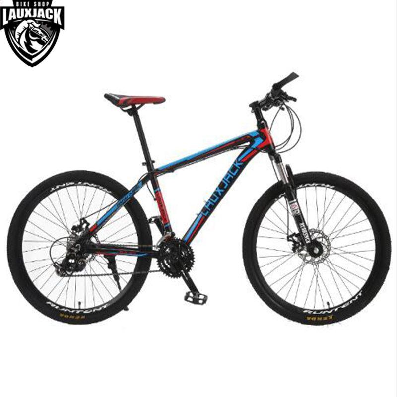 LAUXJACK Mountain Bike Aluminium Frame 24/27 Speed Shimano Mechanic Brake 26