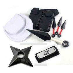 Аниме Наруто косплэй реквизит коллекции пластик кунай Shuriken оружие ниндзя сумки набор для Хэллоуина игрушечные лошадки