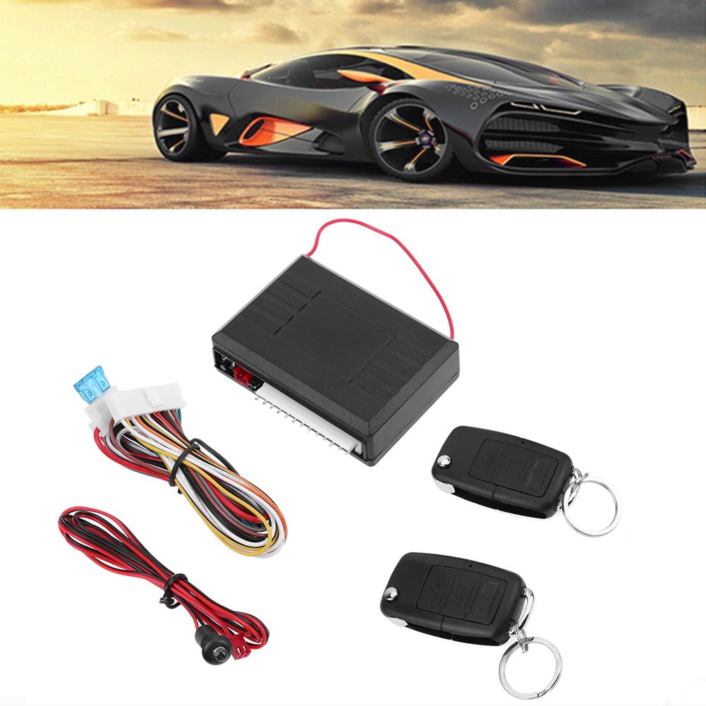 Universal 12 V Car Auto Remote Central Kit Door Locking Vehicle Keyless Entry System with Remote Controllers High Quality