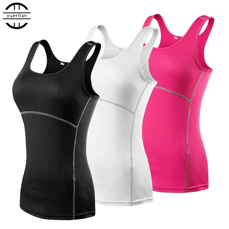 New Yoga Tops Women Sexy Gym Sportswear Vest Fitness tight woman clothing Sleeveless Running shirt Quick Dry White Yoga Tank Top