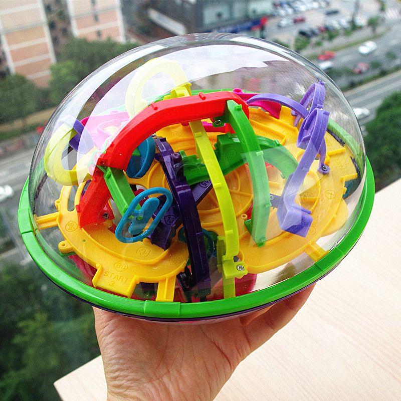 100 ~ 299 niveaux labyrinthe Puzzle balle 3D labyrinthe Intellect enfants jouet Cube magique amusant doigt jouets équilibre logique capacité enfants cadeau