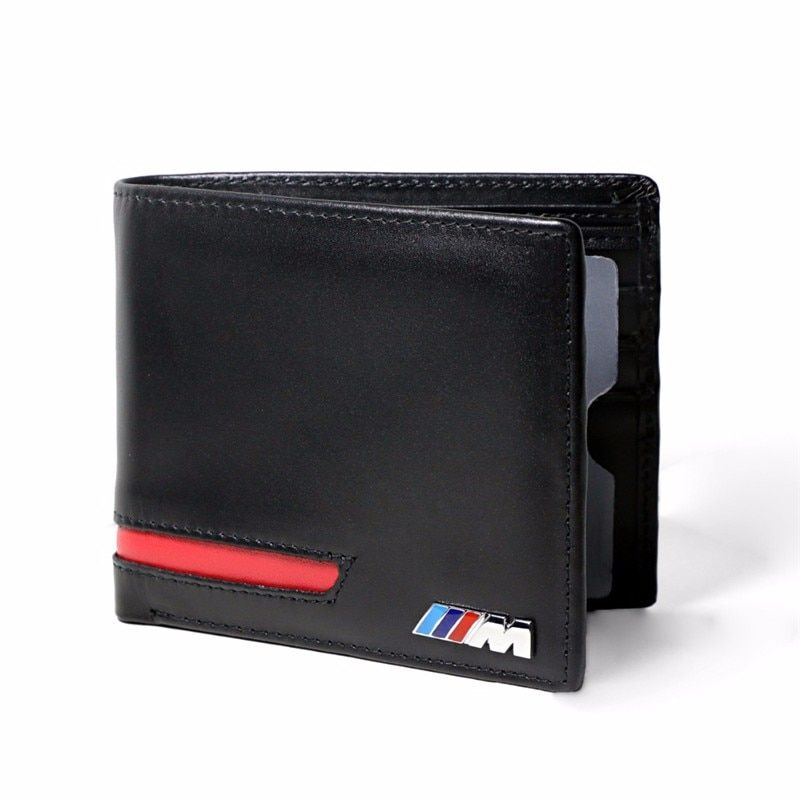 Genuine Leather Car Drivers License Wallet M Credit Card Case for BMW ///M E60 E90 F10 E64 E65 E91 E92 F10 F15 F30 X1 X3 X5 X6