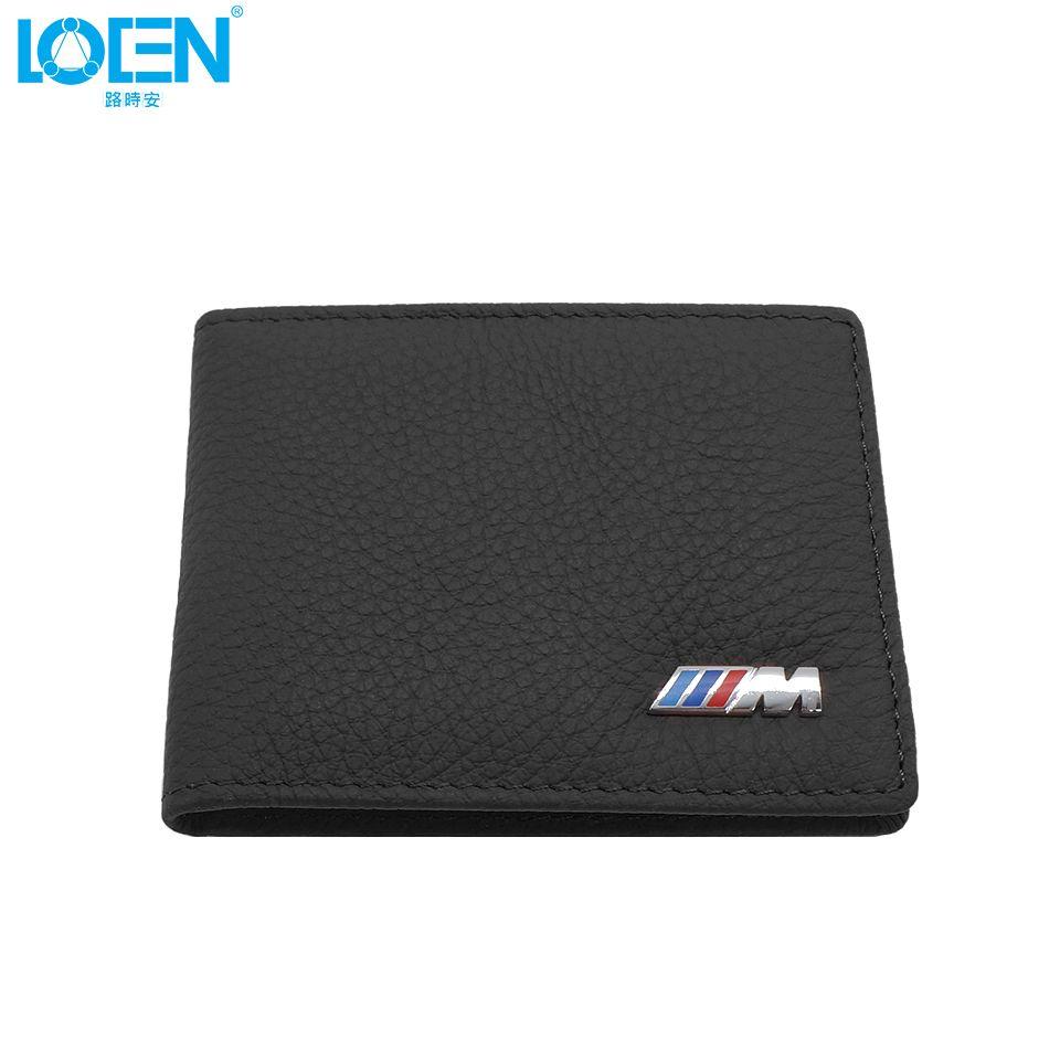 LOEN 1PC en cuir Auto permis de conduire sac voiture Documents de conduite carte titulaire de crédit sac à main portefeuille étui pour bmw style