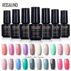 ROSALIND 7 ML Nail Art Gel Pur Couleur 31-58 UV LED Gel Nail Polish Long-durable Macaron Soak off vernis gel laque