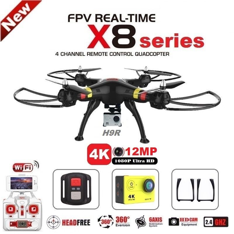 SYMA X8C X8G X8W X8HG X8 FPV RC Drone With H9R 4K Camera <font><b>1080p</b></font> Ultra HD WiFi 2.4G 4CH RC Quadcopter Helicopter Professional Dron