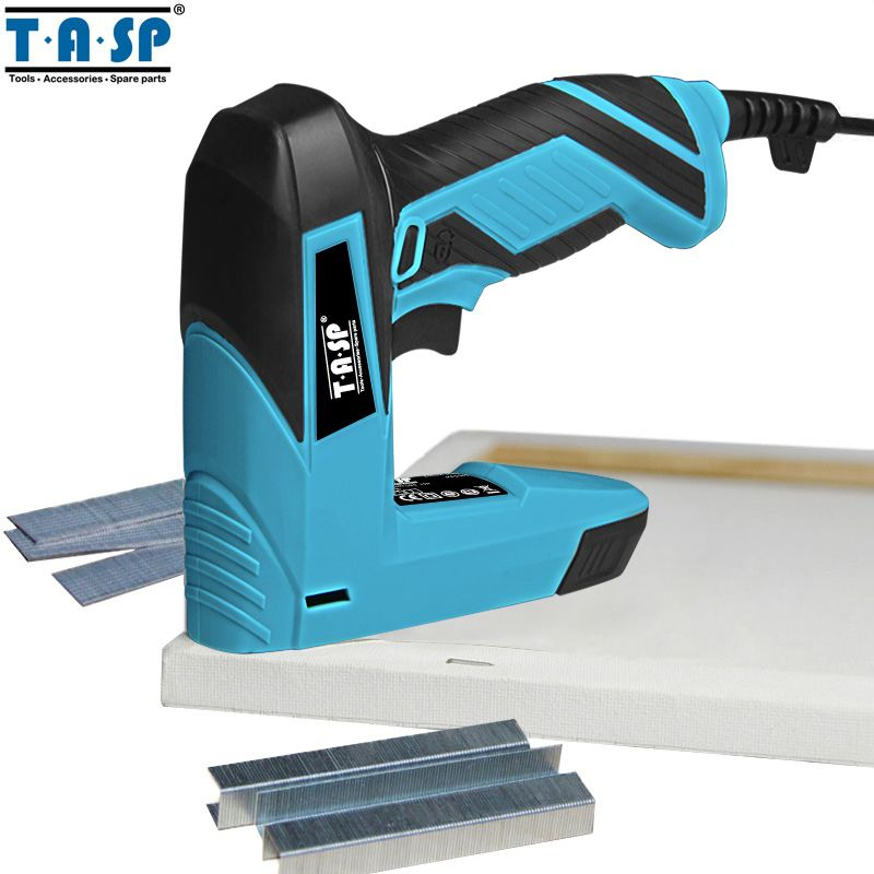 TASP 230V 2 en 1 cloueuse électrique et agrafeuse meubles agrafeuse pour cadre avec agrafes et clous menuiserie outils de travail du bois