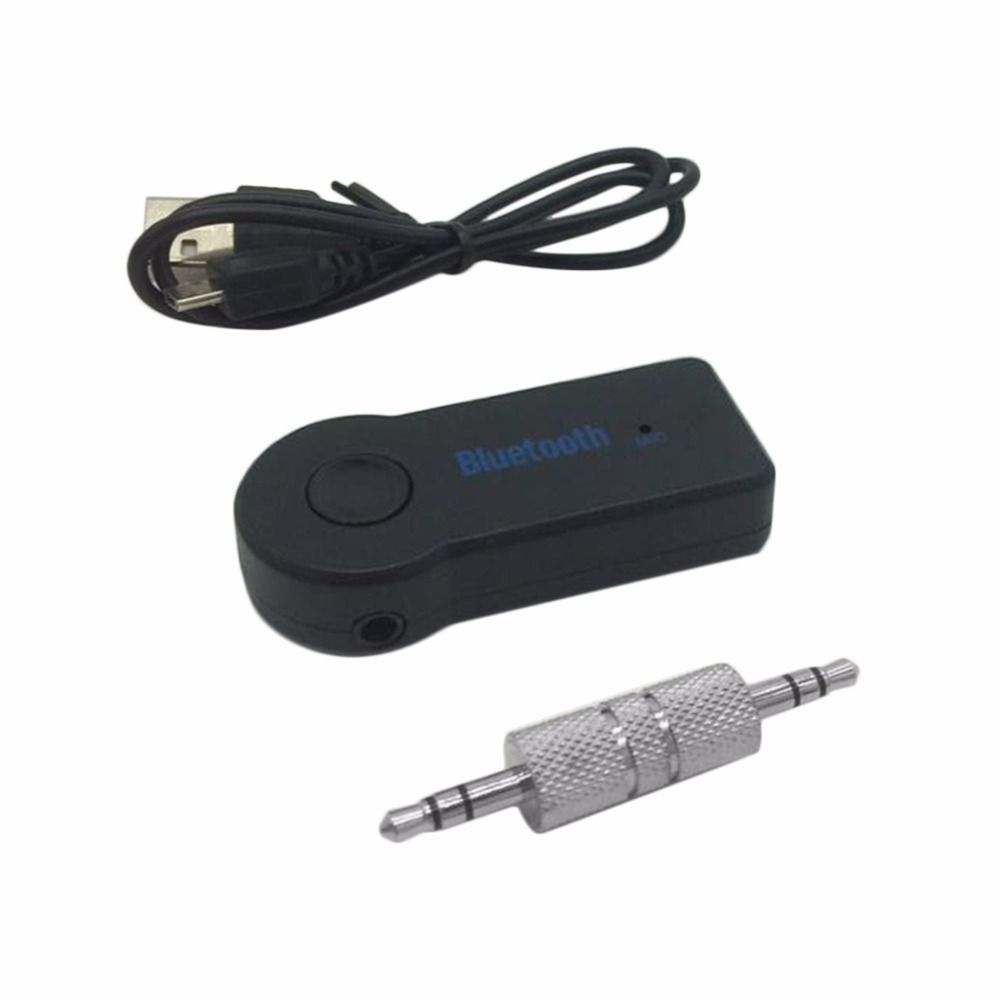 Wireless Car Bluetooth V3.0 Receiver Adapter 3.5MM AUX Audio Stereo Music Hands-free Car Bluetooth Audio Adapter Build-in Mic